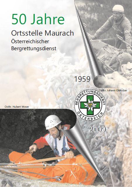 Festschrift 50 Jahre Bergrettung Maurach